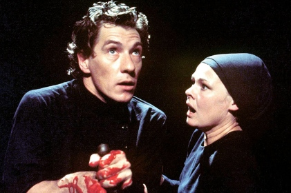 Judi Dench actress Ian McKellen in play Macbeth